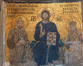 Christ enthroned, flanked by Empress Zoe  — Stockfoto