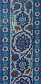 Detail of the blue mosaics decorating the    Rustem Pasha Mosque — Stock Photo