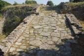 Ramp leading togate of Troy — Stock Photo