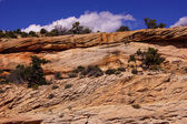 Tilted layers of sandstone cliffs — Stock Photo