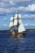 Two masted tall ship  — Стоковое фото