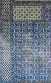 Interior mosaics decorating the    Rustem Pasha Mosque — Stock Photo