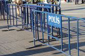 Police barriers  — Stock Photo