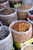 Colorato sacchi di snack — Foto Stock