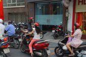 Blur of motorbike traffic — Stock Photo