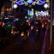 Motor scooters and  lights for  Tet Lunar New Year — Stock Photo #70040003