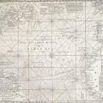 Antique map of the Atlantic Ocean — Stock Photo #73174205