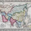 Antique map of Asia showing Political division — Stock Photo #73460951