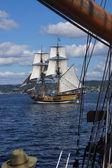 The wooden brig, Lady Washington — Stock Photo