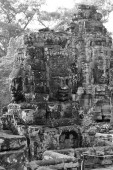 Face tower of Bayon Temple — Stock Photo