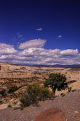 Badlands and sandstone canyons — Stock Photo