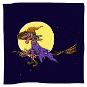 Witch on a broomstick — Stock Photo