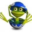 Frog in the globe — Stock Photo #53890231