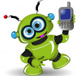 Robot and Phone — Stock Vector #59072539