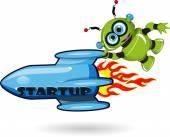 Startup — Stock Vector