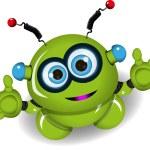 Cute green robot — Stock Vector #60972137