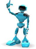 Blue Robot — Stock Vector