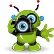 Robot with Camera — Stock Vector #61835051