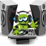 Robot DJ — Stock Vector #61855527