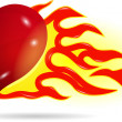 Heart on fire — Stock Vector #63880673