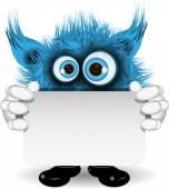 Blue potwora na białym tle — Wektor stockowy