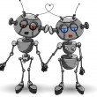 Robots in Love — Stock Vector #69573167