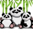 Family of pandas — Stock Vector #69919209
