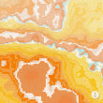 Abstract landscape background. Mosaic. 3d technology vector illu — Stock Vector #69957551