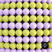 Abstract technology background with balls. Spheric pattern. 3d v — Stock Vector