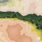 抽象的な風景の背景。モザイク。ベクトル技術 3 d 光を示す — ストックベクタ