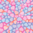 Abstract 3D background with colorful hearts.  Vector illustratio — Stock Vector #70266373