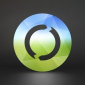 Recycle sign. Ecology icon. Vector illustration for your design. — 图库矢量图片
