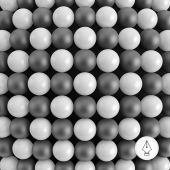 Abstract technology background with balls. Spheric pattern. — Stock Vector