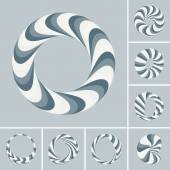 Set of abstract 3d vector icons such emblems. — Stock Vector