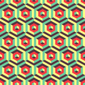 Seamless abstract 3d background with hexagonal elements. — Stock Vector