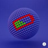 Battery icon. Web sign. Design element. Vector illustration. — Stock Vector