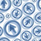 Arrows. Seamless pattern. Vector illustration. — Stock Vector