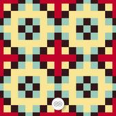 Seamless geometric background. Mosaic. — Stock Vector
