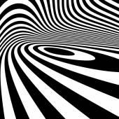 Blanco y negro abstracto fondo rayas. Arte óptico. — Vector de stock