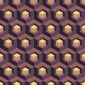 Honeycomb background 3d. Mosaic. Vector illustration. — Stock Vector