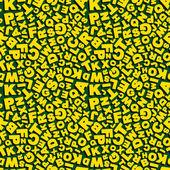 Vector illustration du modèle sans couture avec lettres. — Vecteur