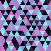 Seamless geometric triangles background. Mosaic.  — Stock Vector