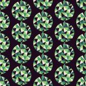 Geometric seamless pattern with gems. Vector illustration. — Stock Vector