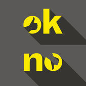 Ok and No symbol signs. Thumb up and down icons. — Stock Vector