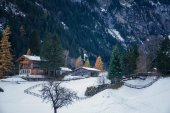 Winter landscape in Switzerland — Stock Photo
