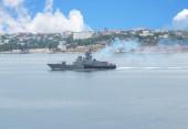 Russisches kriegsschiff — Stockfoto