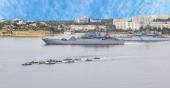 Navio de guerra — Foto Stock
