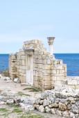 Ruïnes van een oude griekse tempel — Stockfoto