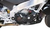 オートバイ クロム金属製グリル — ストック写真