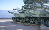 Old soviet tanks — Stock Photo